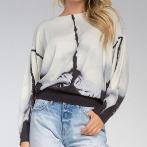 Elan Cotton Tie Dye Dolman Sleeve Sweater